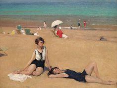 Sir Herbert James Gunn, R.A. (1893-1964) - Sunbathers http://www.pinterest.com/marimonte58/au-bord-de-la-mer/