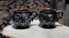Birthday giftforher Ceramic mugs Chamomiles New mother gift