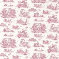 Cerise toile bedroom wallpaper | eBay UK