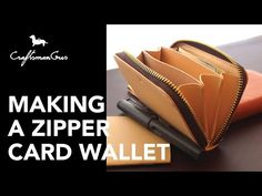 A zipper card wallet. The interior card section, pocket. Leather Wallet Pattern, Leather Card Wallet, Leather Working Patterns, Leather Tutorial, Sew Wallet, Jean Purses, Wallet Tutorial, Minimalist Wallet, A4 Size