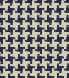 Upholstery Fabric-Robert Allen Square Pegs Navy, , hi-res