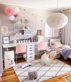 Teen girl bedrooms, totally superb teen girl room decor project number 5918993329 to think about now. Cool Girl Bedrooms, Little Girl Rooms, Trendy Bedroom, Modern Bedroom, Pink Bedrooms, Teenage Bedrooms, Teenage Room, Gray Bedroom, Ikea Girls Bedroom