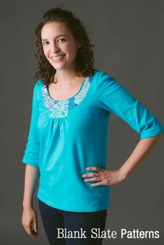 Rose T-Shirt pdf sewing pattern by Blank Slate Patterns