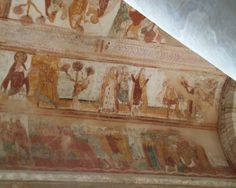 Fresque de la nef de l'abbatiale de Saint-Savin-sur-Gartempe, Vienne, France