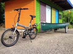 Kayak Bike Trailer, Trailer Diy, Trailer Plans, Bike Trailers, Canoe Cart, Kayak Cart, Bike Cart, Bicycle Sidecar, Build A Bike