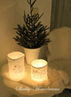 Gorgeous Christmas Luminaries : Shabby Homedreams