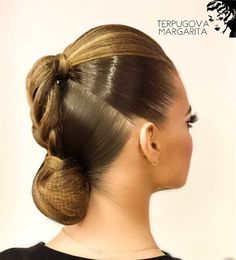 Image may contain: one or more people and closeup Latin Hairstyles, Retro Hairstyles, Creative Hairstyles, Braided Hairstyles, Dance Competition Hair, Ballroom Dance Hair, High Fashion Hair, Dance Makeup, Great Hair