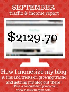 September 2015 Income Report From Mostly Morgan  #incomereport #bloggingincome #makemoneyblogging