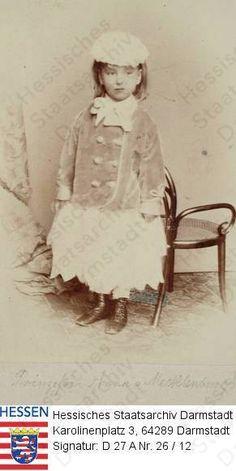Princesse Anna de Hesse-Darmstadt (1843-1865) fille  du prince Karl de Hesse et du Rhin et de la princesse Elisabeth de Prusse