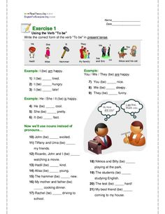 worksheet verb be English Lessons, Learn English, Verbo To Be Ingles, Simple Present Tense, English For Beginners, English Worksheets For Kids, Grammar Book, Teachers Corner, Classroom Management