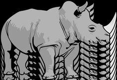 clipart african animals | Rhinocerous Clip Art