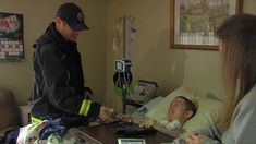 """A firefighter from Clinton Township, Michigan, recently paid a family's outstanding power bill to help them get back electricity needed for their son's """"life support."""""""