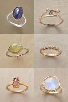 sundance rings. these are all gorgeous. the one in the middle on the right looks similar to a mother's ring that my mom wears.