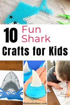 10 fun shark crafts for kids -  If you are looking for fun ways to bring the beach home with you for the day, you are not going to want to miss these 10+ Shark Crafts and Activities for Kids. This collection has something for kids of all ages.