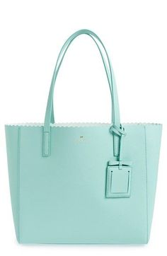 kate spade new york 'cape drive - hallie' scalloped saffiano leather tote
