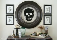 Halloween Mantel - The Crafted Sparrow