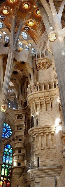 "architecturia: "" La Sagrada Familia. lovely art """