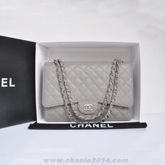 Buy Chanel Original Caviar Leather Jumbo Flap Bag A47600 Grey Outlet Canada