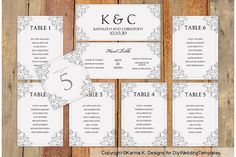 Wedding Seating Chart Template  Download by KarmaKWeddings on Etsy