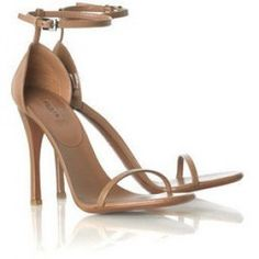 Azzedine Alaia Strappy Sandals in Nude as seen on Jennifer Aniston
