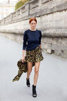 Asymmetrical skirt adds the fairytale touch.