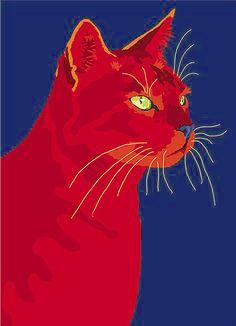 Pop art design cat
