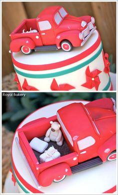 antique truck cakes photos | Vintage Toys & Burlap by Royal Bakery | TheCakeBlog.com