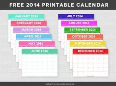 Free 2014 Printable Calendar!!