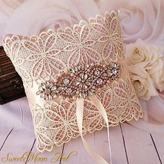 Ring Pillow Wedding, Wedding Pillows, Pillow Crafts, Diy Pillows, Blush Wedding Invitations, Wedding Stationery, Dusty Pink Weddings, Crafts From Recycled Materials, Pink Wedding Rings