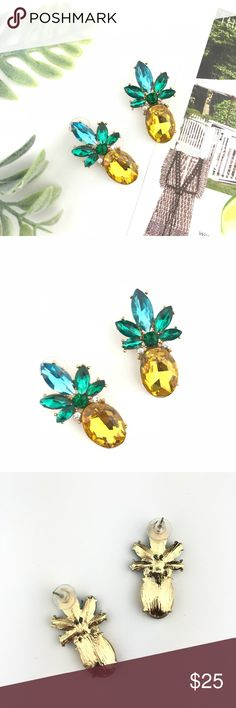 "✨SALE✨Sophia Pineapple Crystal Statement Earrings ""Sophia"" Pineapple Crystal Statement Earrings  ✦ Bundle & Save ✦ Please See All Pics  ✦ Feel Free to Make a Reasonable Offer   NEW with protective packaging.   Follow me us Instagram @abbyandgraceboutique ABBY & GRACE Jewelry Earrings"