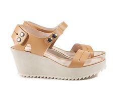 Frances, 'snappy' quarter-back wedge in almond vacchetta | Pedro Garcia Shoes Spring Summer 2014