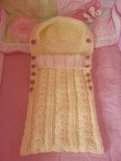 Knitting Pattern....Snuggle Baby Sleeping Bag by KnittyKnittyBits