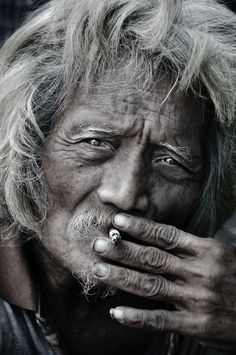portrait ( siameaseart:  Digital Photography (Old Man) #graymatter