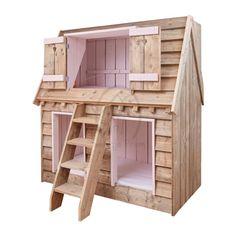 Op zoek naar een echt bijzonder kinderbed? Met dit Droomhuisbed maak je de droom van ieder kind waar! Dit stapelbed in de vorm van een huis heeft 2 slaapplekken.