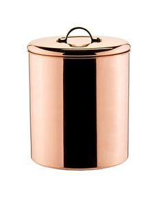 Old Dutch International Polished Copper Canister with Brass Knob, 4 -Quart & Reviews - Macy's Copper Canisters, Stainless Steel Canisters, Copper Tea Kettle, Gas And Electric, Salt And Pepper Set, Diy Kitchen, Copper Kitchen, Awesome Kitchen, Brass Handles