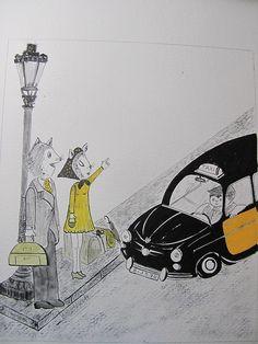 """Ilustración""""Taxi"""""""