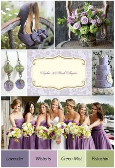 Purple, white, and green- pop of color