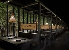 Stunning Installations by Joy-Chou Yi – the House of Grace Japanese Restaurant Interior, Japanese Interior Design, Restaurant Interior Design, Chinese Restaurant, Deco Restaurant, Restaurant Lighting, Banquette Seating Restaurant, Magic Places, Bar Interior