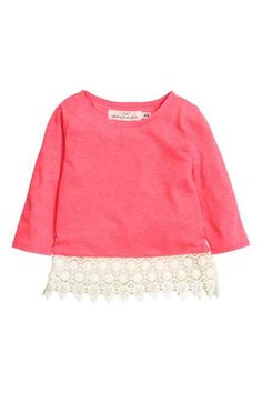 H&M - Top with lace £5.99