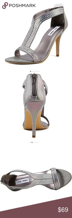 Steve Madden heels brand new Lovey pewter never worn Steve Madden heels perfect for weddings and formal events! Steve Madden Shoes Heels