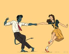 based on the youtube footage i've seen, i believe the objective of the lindy hop is to attempt to murder your partner by shaking them out like a bed sheet. seems like…fun? [this is part of a set!]