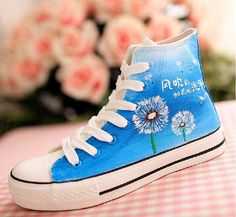 Dandelion Converse shoes Custom Converse by Kingmaxpaints on Etsy