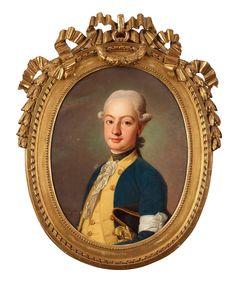"Swedish artist Per Krafft d.ä. 1724-1793 Portrait of ""Gustaf Anton Gyldenstolpe"" (1744-1827). Sold in Bukowskis International auction 20133"