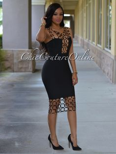 Chic Couture Online - Naples Black Gold Decor Luxe Bandage Dress, (http://www.chiccoutureonline.com/naples-black-gold-decor-luxe-bandage-dress/)