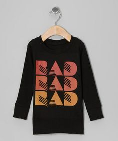 $11. Love this Black 'Rad' Tee - Toddler & Girls on #zulily! #zulilyfinds