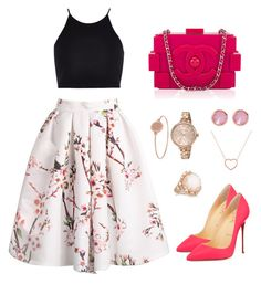 """""""Untitled #118"""" by freidaki ❤ liked on Polyvore featuring Christian Louboutin, River Island, Marc by Marc Jacobs, Ted Baker, Michael Kors, Fernando Jorge and Chanel"""