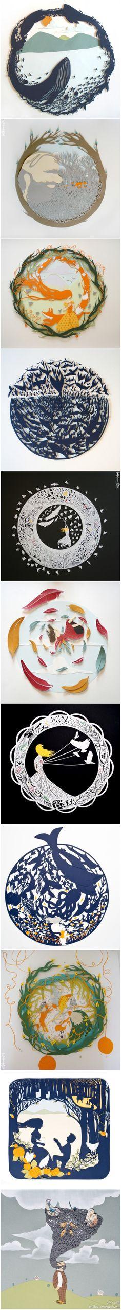 Beautiful Paper Cutting! Sarah Dennis的刻纸杰作。
