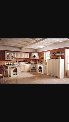 ... in finta muratura - Cucina azzurra con isola Pinterest Cucina