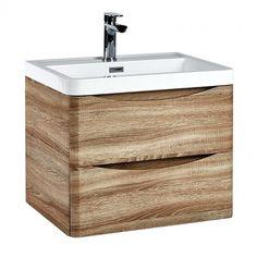 Harbour Clarity 600mm Wall Hung Vanity Unit & Basin - Bardolino Driftwood Oak