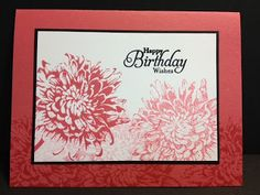 Blooming With Kindness Birthday Card Stampin' Up! Rubber Stamping Handmade Cards Stamp a Stack idea